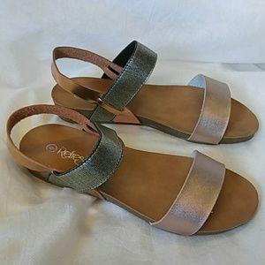 Women's Whisper Rose Gold Tone Summer Sandal